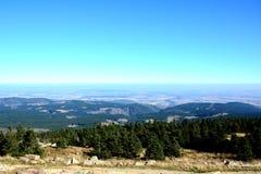 从布罗肯峰的看法 库存照片