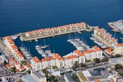 小游艇船坞在直布罗陀市 图库摄影