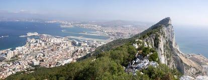 直布罗陀南西班牙的英国海外领地 图库摄影