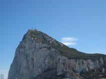 直布罗陀的岩石在阳光下 库存图片