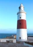直布罗陀的灯塔 最南部的问题的Gibralta 免版税库存照片