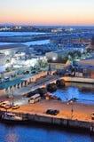 直布罗陀船坞和机场 免版税图库摄影