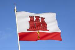 直布罗陀-欧洲旗子  免版税库存图片