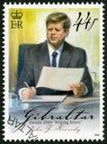 直布罗陀- 2008年:约翰F展示  肯尼迪(1917-1963),系列欧罗巴信件文字 免版税库存照片