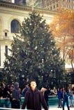 布耐恩特公园NYC圣诞节季节 库存照片