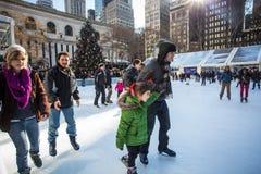 布耐恩特公园NYC Christmastime 免版税库存图片