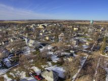 布耐恩特是一个小种田的镇在南达科他由休伦湖 免版税库存图片