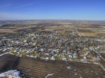 布耐恩特是一个小种田的镇在南达科他由休伦湖 库存照片