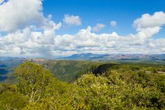 布莱德河从&#x22的峡谷全景; God' s window'观点 库存照片