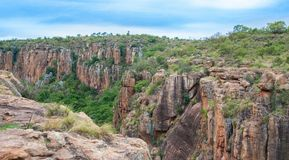 布莱德河峡谷,南非,普马兰加省,夏天风景 库存照片