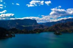 布莱德湖,斯洛文尼亚惊人的看法  库存图片