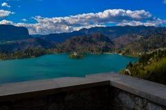 布莱德湖,斯洛文尼亚惊人的看法  免版税图库摄影