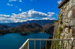 布莱德湖,斯洛文尼亚惊人的看法  免版税库存图片