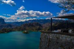 布莱德湖,斯洛文尼亚惊人的看法  免版税库存照片