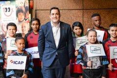 布莱德Barritt南-非洲人-出生的英国橄榄球联合球员出席每年ICAP慈善天 免版税图库摄影