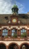 布莱思高地区伯莱斯堡,德国-老城镇厅 库存图片