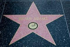 布莱恩・亚当斯好莱坞明星 库存照片