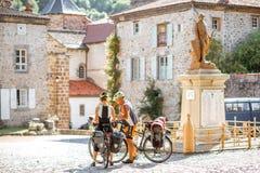 布莱斯尔村庄在奥韦涅地区,法国 库存图片