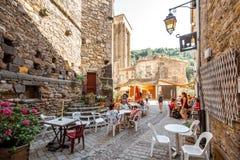 布莱斯尔村庄在奥韦涅地区,法国 免版税图库摄影