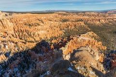 布莱斯峡谷国家公园冬天秀丽 免版税库存照片