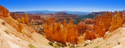 布莱斯峡谷国家公园-犹他,美国的全景 库存照片