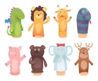布袋木偶 从袜子的玩具孩子滑稽的儿童比赛的导航被隔绝的字符 皇族释放例证