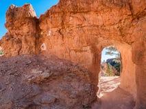 布赖斯峡谷不祥之物捉迷藏足迹,犹他 库存图片