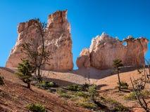 布赖斯峡谷不祥之物捉迷藏足迹,犹他 库存照片
