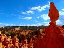布赖斯峡谷犹他平衡的岩石 库存照片