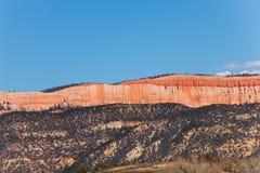 布赖斯峡谷砂岩山,美国长的墙壁  免版税库存图片