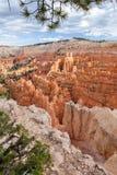 布赖斯从日落点的峡谷视图 免版税库存照片
