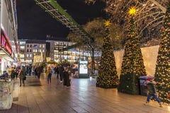 布赖特施德广场圣诞节市场 免版税库存照片