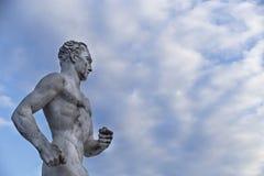 布赖顿史蒂夫・奥维特赛跑者雕象 免版税图库摄影