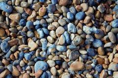 布赖顿小卵石背景,伦敦英国 库存图片