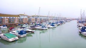 布赖顿小游艇船坞 库存图片