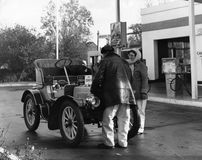 布赖顿汽车伦敦运行到退伍军人 免版税库存图片