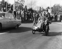 布赖顿汽车伦敦运行到退伍军人 免版税库存照片