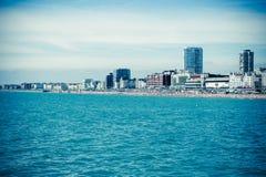 布赖顿海岸全景 免版税库存照片