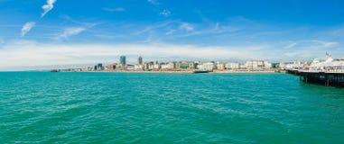 布赖顿海岸全景 免版税库存图片
