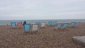 布赖顿海滩的休息室 免版税库存照片