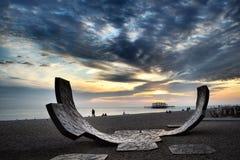 布赖顿海滩 库存图片