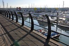 布赖顿甲板海滨广场结构 免版税库存照片