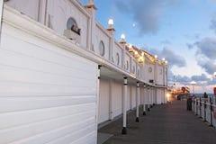 布赖顿码头看法在日落的 库存照片