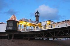 布赖顿码头看法在日落的 库存图片