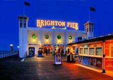 布赖顿码头,英国 库存图片
