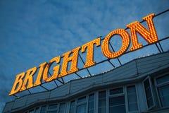 布赖顿码头光,英国英国 免版税库存图片