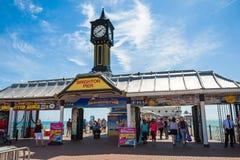 布赖顿码头入口 免版税库存图片