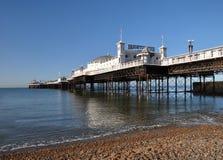 布赖顿英国全景码头垂直 图库摄影