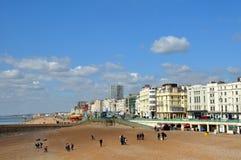 布赖顿英国沿海岸区春天 免版税库存图片