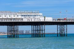 布赖顿英国码头 免版税库存照片